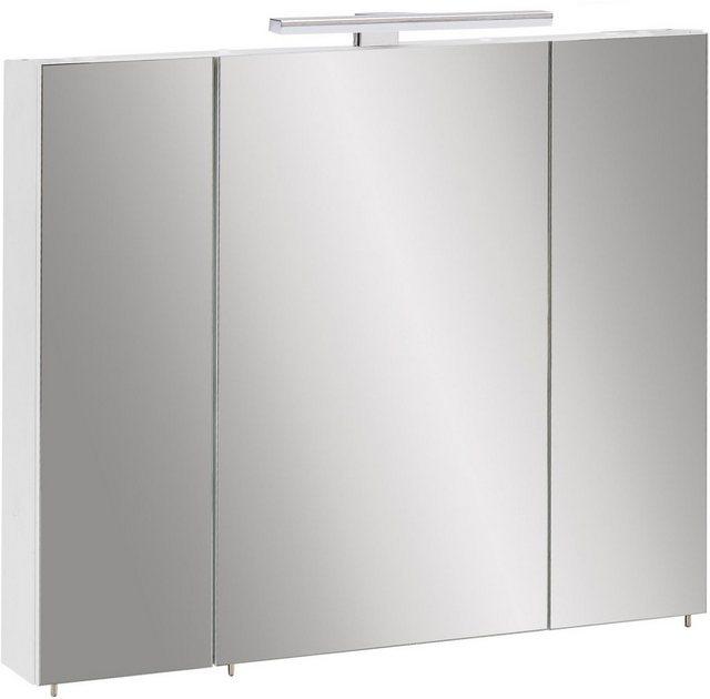 Spiegel - Places of Style Spiegelschrank »Craig« Breite 80 cm, 3 türig, LED Beleuchtung, Schalter Steckdosenbox, Glaseinlegeböden, Soft Close, Made in Germany  - Onlineshop OTTO