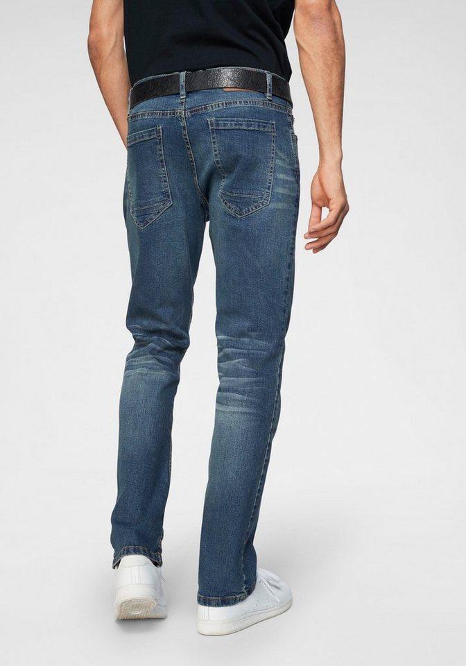 195580d2f0bb59 John Devin Straight-Jeans Stretch, Jeans mit schöner Waschung online kaufen  | OTTO