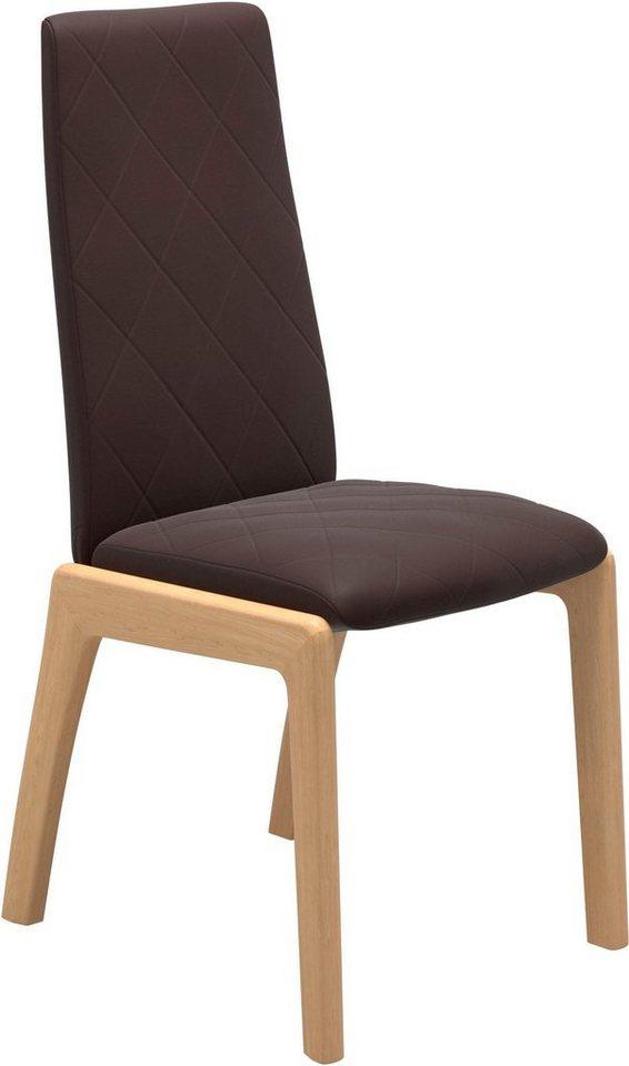 Stressless® Dining Stuhl »Mango High D100«, Stuhlbeine Eiche natur braun  Essstuhl