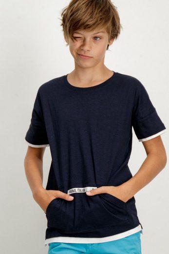 Garcia T-Shirt mit Kängurutasche