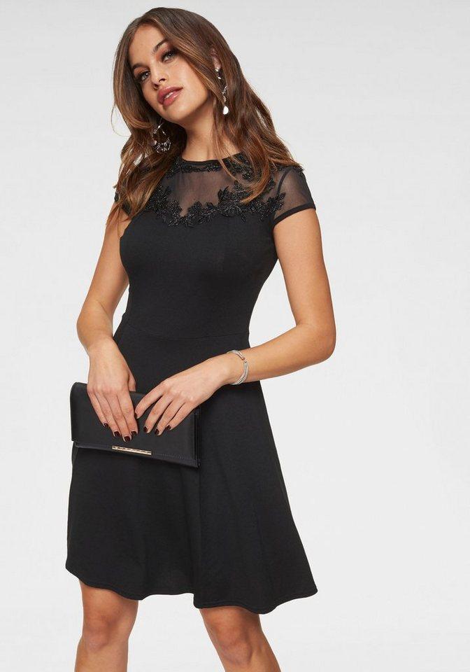 Melrose Partykleid mit Spitzenapplikation | Bekleidung > Kleider > Partykleider | Schwarz | Melrose