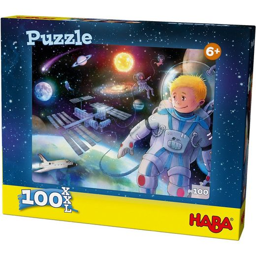 Haba Puzzle 100 Teile XXL - Weltall