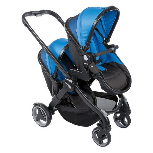 Chicco Geschwisterwagen FULLY TWIN, Blue Power