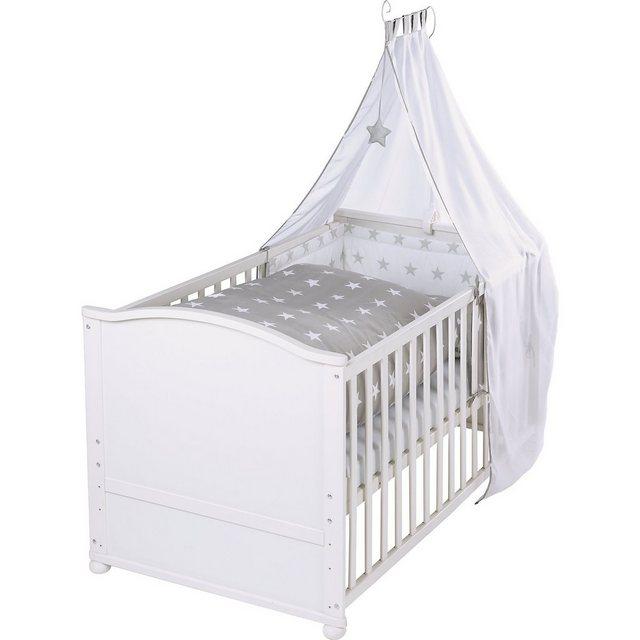 Kinderbetten - Roba® Kinderbett komplett Little Stars, weiß, 70 x 40 cm »  - Onlineshop OTTO