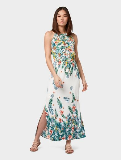 TOM TAILOR Maxikleid »Maxi-Kleid mit Blumenmuster«