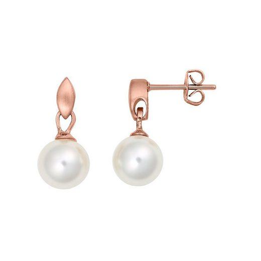 Heideman Paar Ohrhänger »Scipio Rosegold«, Perlenohrringe mit Perle weiß oder farbig