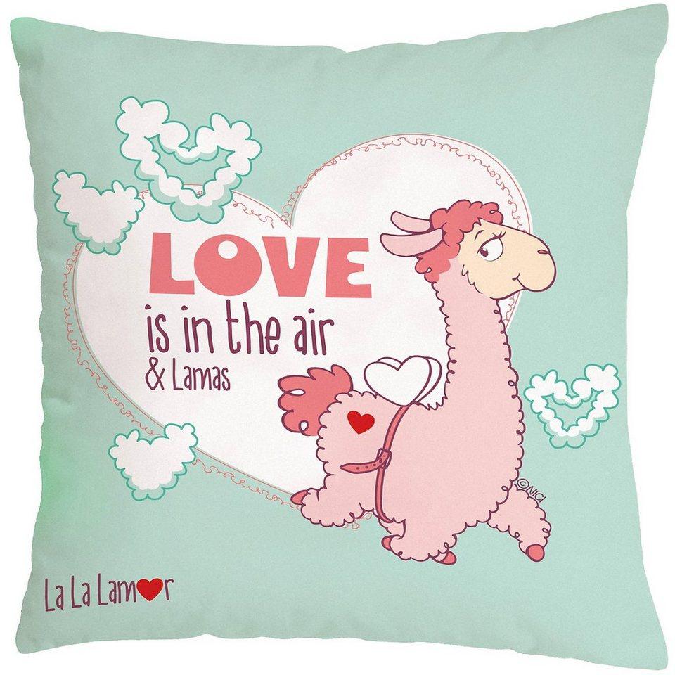 Kissen Love Is In The Air Baumwolle Bedruckt Otto