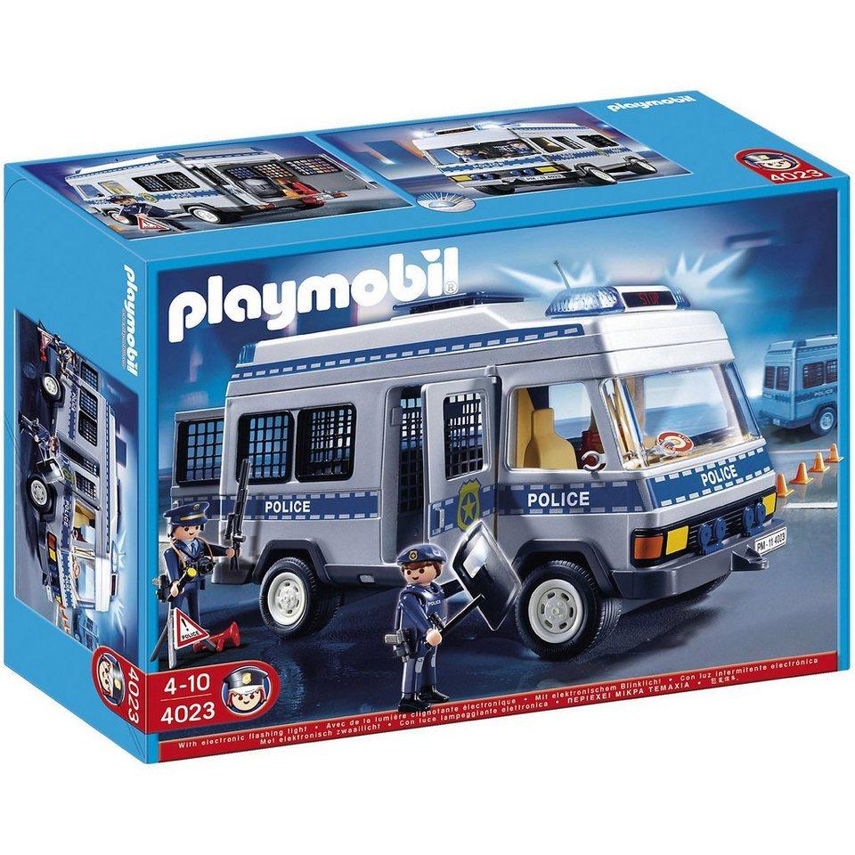 Playmobil 4023 Polizei Mannschaftswagen Kaufen Otto