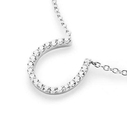Smart Jewel Collier »Hufeisen mit funkelnden Zirkonia Steinen«