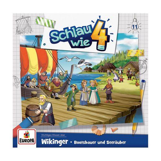 Sony CD Schlau wie Vier 11 - Wikinger, Bottsbauer und Seeräuber