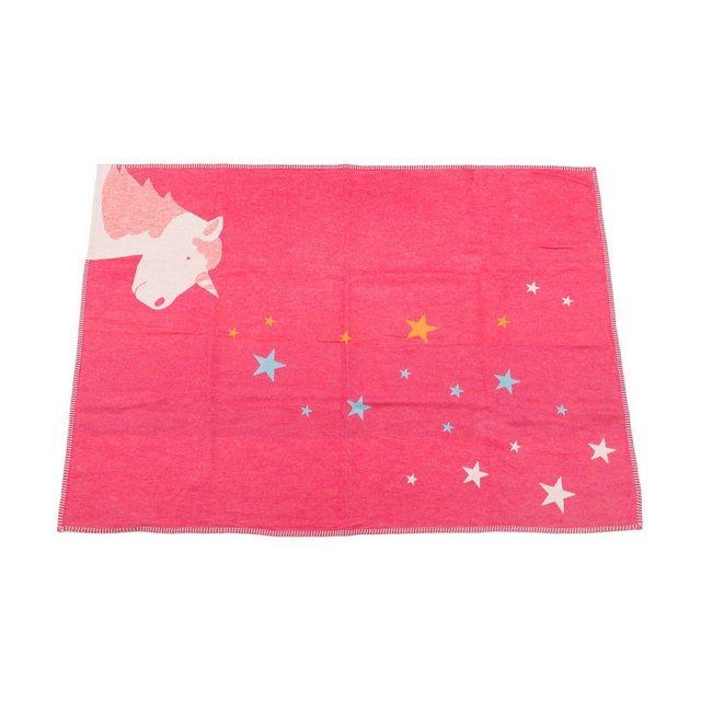 DAVID FUSSENEGGER Baby- und Kinderdecke Einhorn, pink, 100 x 140 cm | Kinderzimmer > Textilien für Kinder > Kinderbettwäsche | Rosa | david fussenegger