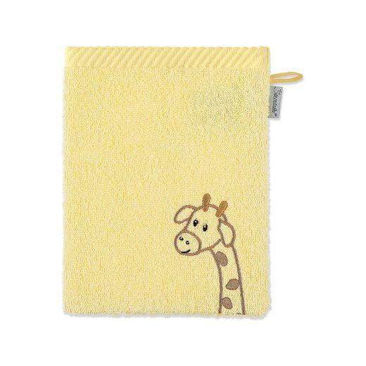 Sterntaler® Waschhandschuh Kuschelzoo, Giraffe Greta