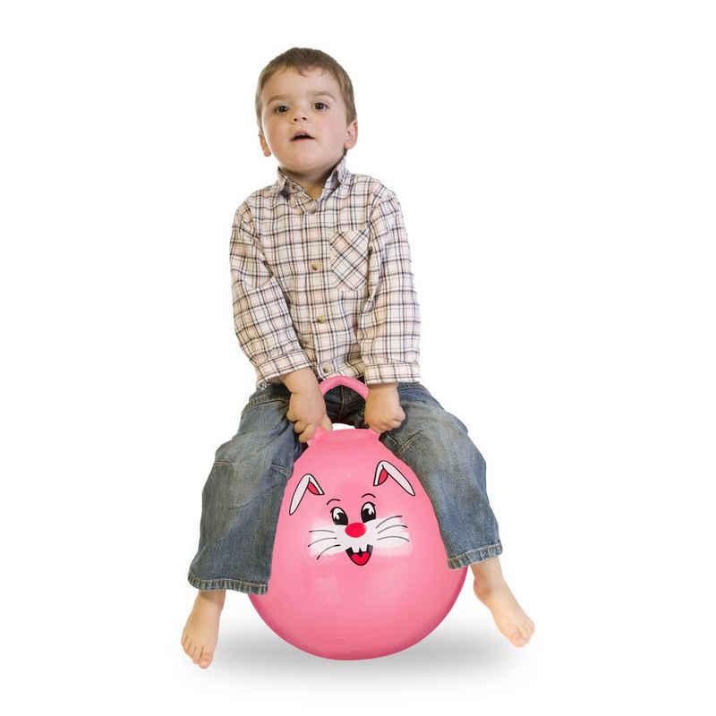 relaxdays Hüpfball »1 x Hüpfball Kinder rosa«
