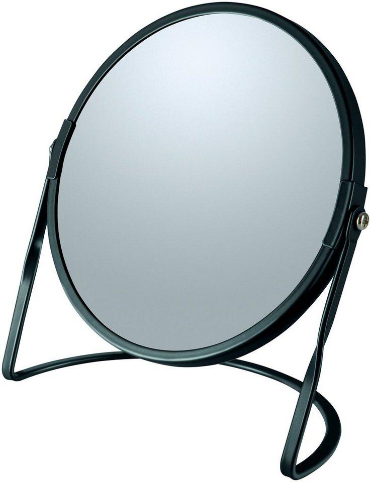 Kosmetikspiegel »AKIRA«, mit 5-fach Vergrößerung | Bad > Bad-Accessoires > Kosmetikspiegel | Schwarz | spirella