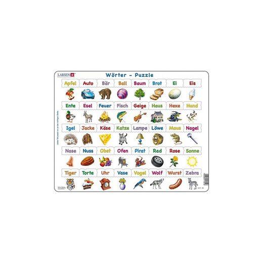 Larsen Rahmen-Puzzle, 40 Teile, 36x28 cm, Wörter