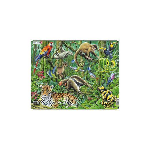 Larsen Rahmen-Puzzle, 70 Teile, 36x28 cm, Regenwald