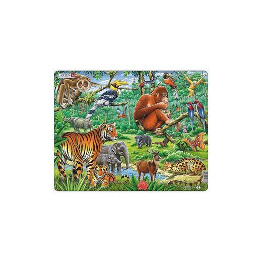 Larsen Rahmen-Puzzle, 20 Teile, 36x28 cm, Dschungel