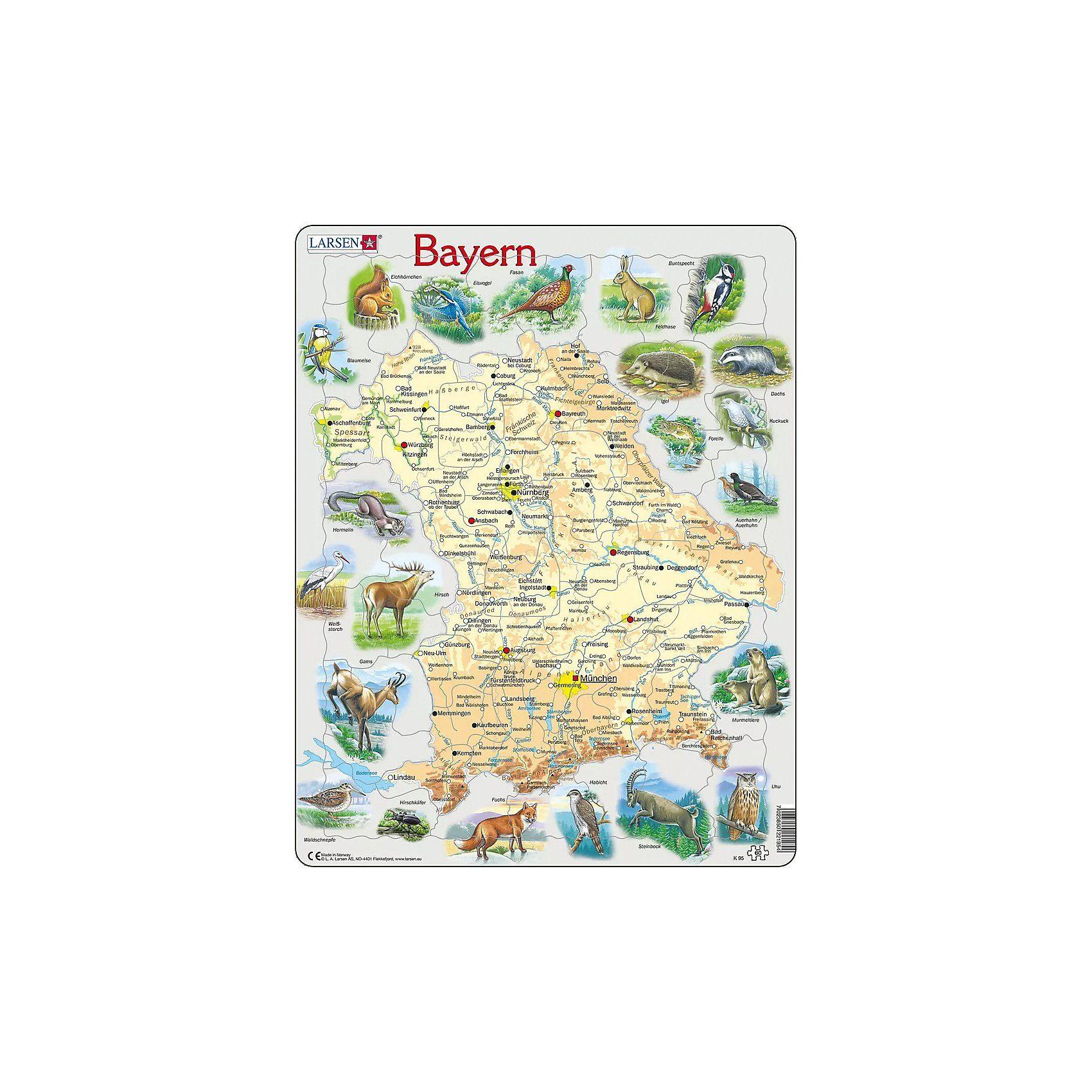 Larsen Rahmen-Puzzle, 60 Teile, 36x28 cm, Bayern