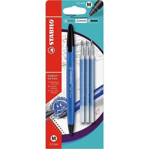 STABILO Gel Exxx 1er Blister blau mit 3er Refill