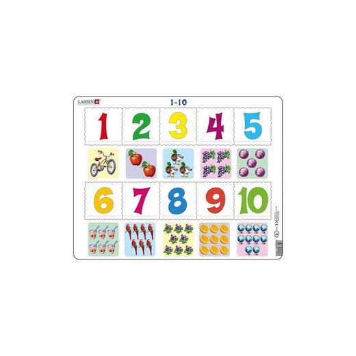 Larsen Rahmen-Puzzle, 10 Teile, 36x28 cm, 1 bis 10 Zählen