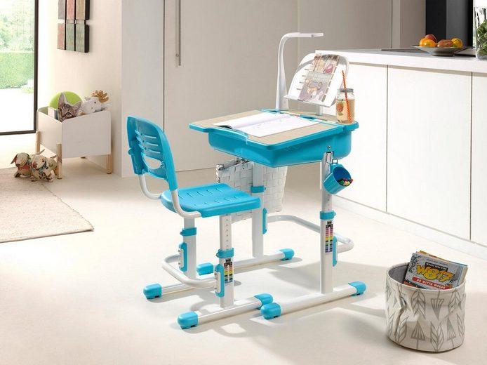 Vipack Kinder-Schreibtisch und Stuhl »Comfortline«, ergonomisch höhenverstellbar