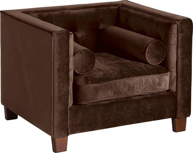 Max Winzer® Sessel »Jobbi« mit Steppung im Rücken, inklusive 2 Kissenrollen, Breite 99 cm