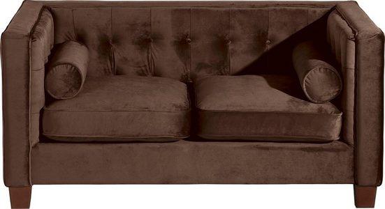 Max Winzer® 2-Sitzer »Jobbi«, mit Steppung im Rücken, inklusive 2 Kissenrollen, Breite 154 cm