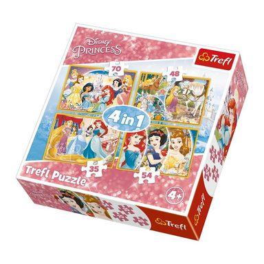Trefl 4in1 Puzzle 35/48/54/70 Teile - Disney Princess