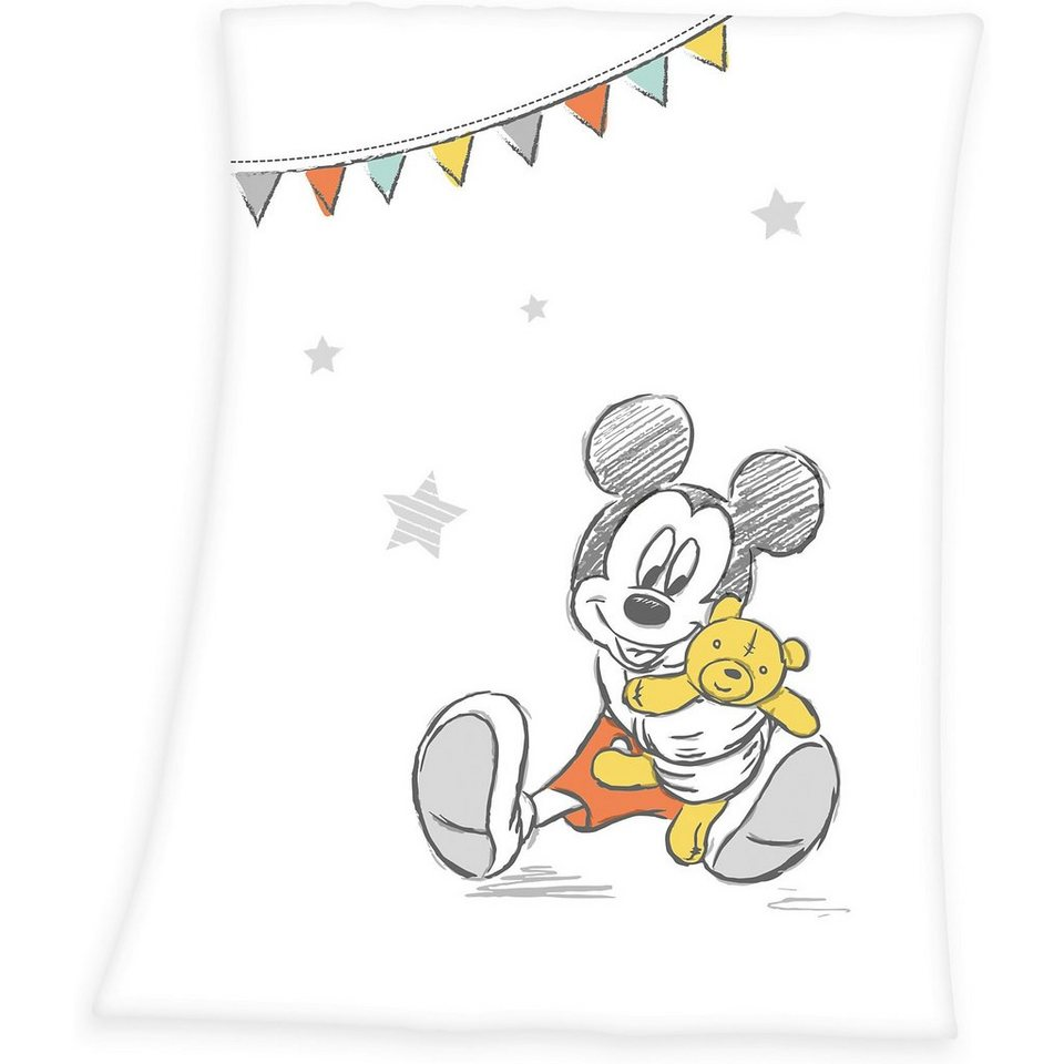 Herding Kuscheldecke Mickey Mouse, 75 x 100 cm | OTTO