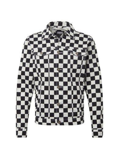 URBAN CLASSICS Jeansjacke »Check Twill Jacket«