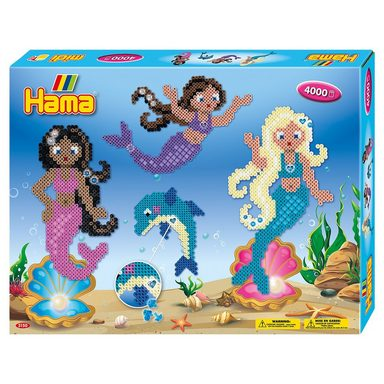 Hama Perlen HAMA 3150 Geschenkpackung Meerjungfrauen, 4.000 midi-Perlen