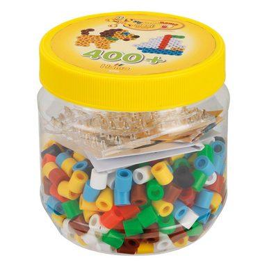 Hama Perlen HAMA 8790 Dose gelb mit 400 maxi-Perlen & Zubehör