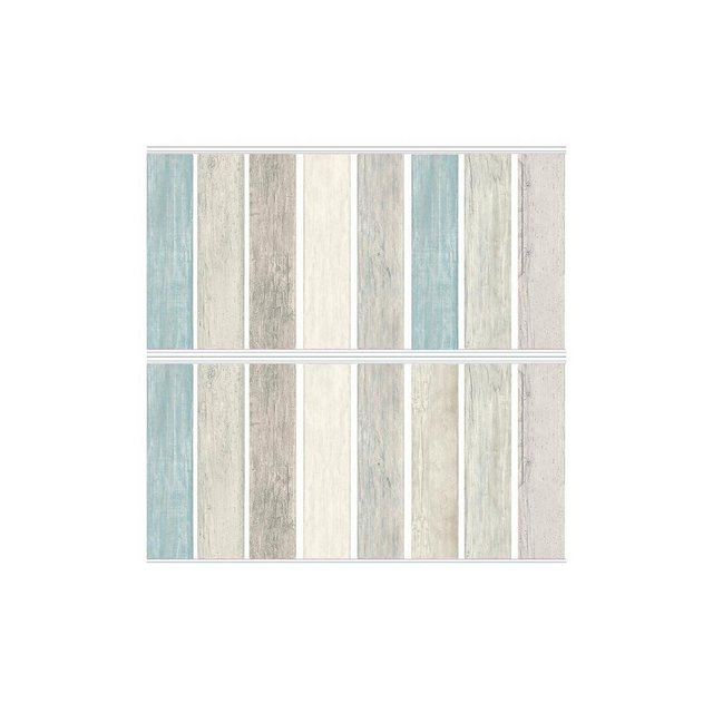 RoomMates Wandsticker Distressed Blue Wood Planks, 16-tlg. | Dekoration > Wandtattoos > Wandtattoos | Roommates