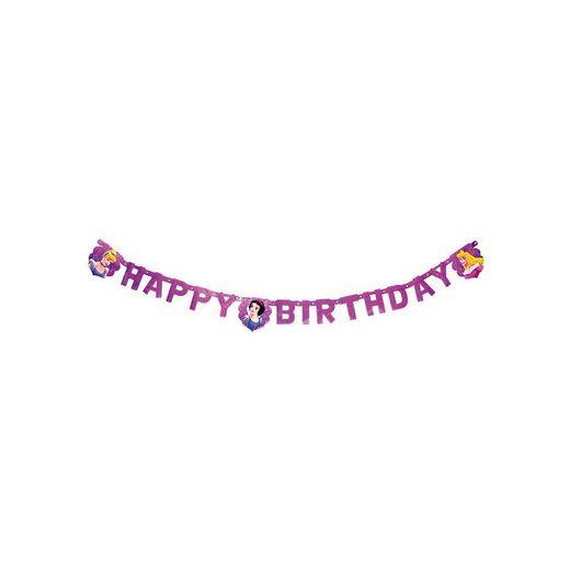 Procos Happy Birthday Girlande Princess Magic Prismatic