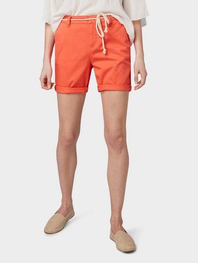 TOM TAILOR Denim Shorts »Chino Bermuda Shorts mit Gürtel«