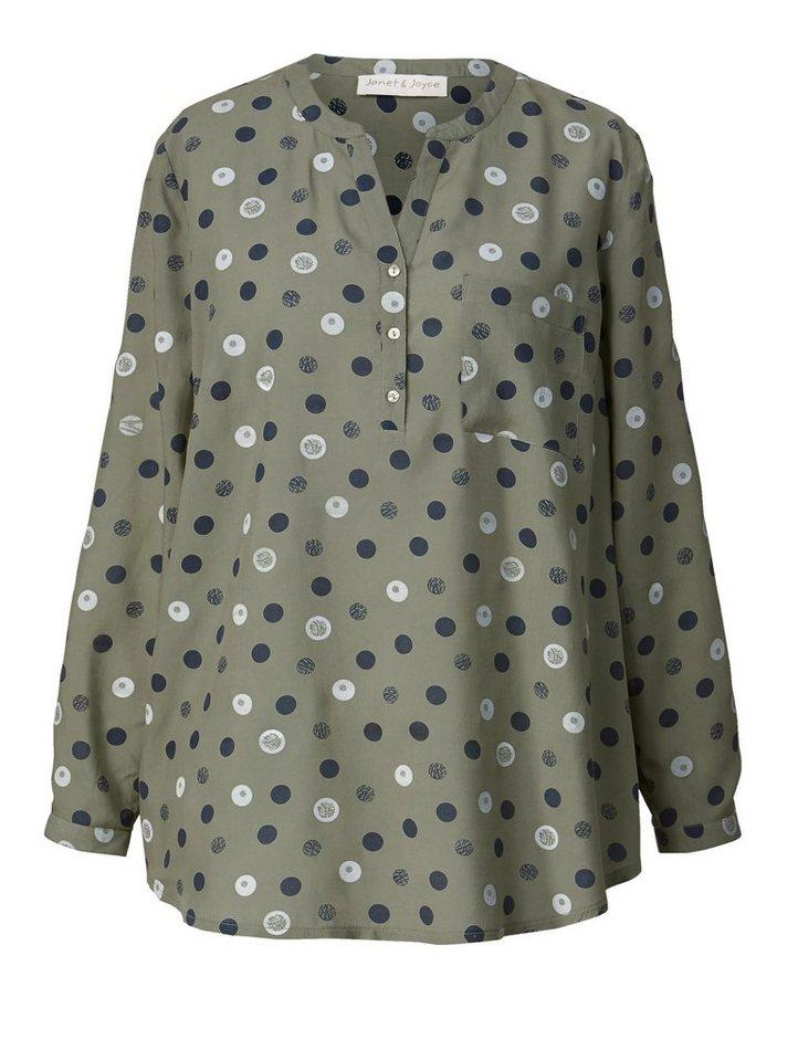 1ffd10b0020704 Janet und Joyce by Happy Size Bluse gepunktet | OTTO