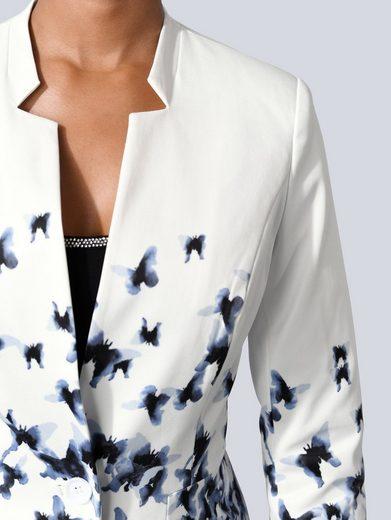 Alba Moda Blazer mit verfremdeten Schmetterlings-Muster