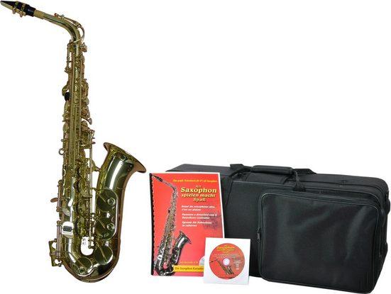 Clifton Saxophon »Eb-Alt«, Messing, (Set, 4-tlg), mit Koffer