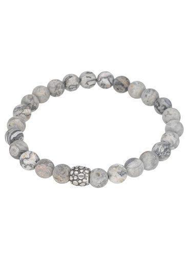 Firetti Armband »Heilstein-Armband mit Kugeln aus Edelsteinen« mit Jaspiskugeln