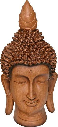 Home affaire Buddhafigur Buddakopf braun »Holzoptik«, Höhe: 46 cm