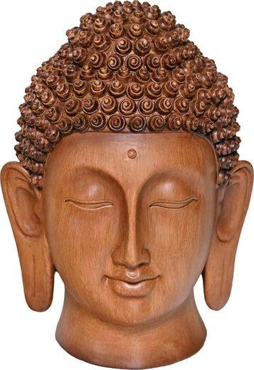 Home affaire Buddhafigur Buddakopf braun »Holzoptik«, Höhe: 28,5 cm