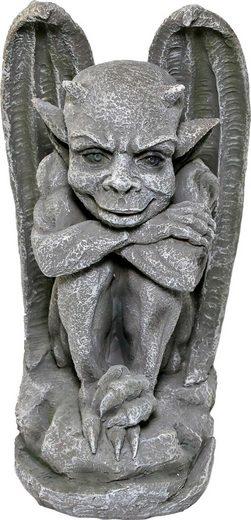 Home affaire Tierfigur, Gargyole sitzend, steinoptik, Höhe: 46 cm