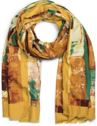 styleBREAKER Schal »Schal mit abstraktem Pinselstrich Muster« Schal mit abstraktem Pinselstrich Muster