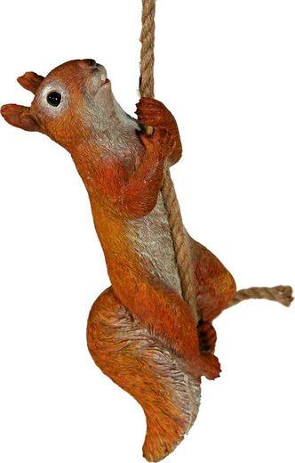 Home affaire Tierfigur, Eichhörnchen am Seil kletternd, Höhe: 31cm