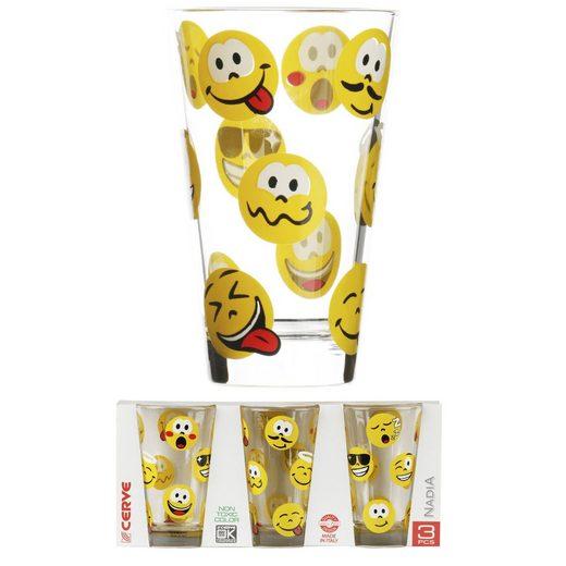 HTI-Living Getränkeglas 3er »Emoticons2«