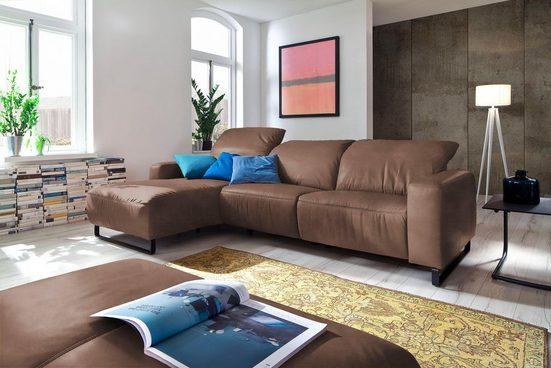 Premium collection by Home affaire Ecksofa »Juist«, wahlweise mit motorischer Relaxfunktion, Kopfteilverstellung