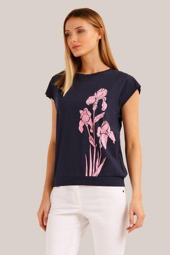 Finn Flare Kurzarmbluse mit niedlichem Blumendruck
