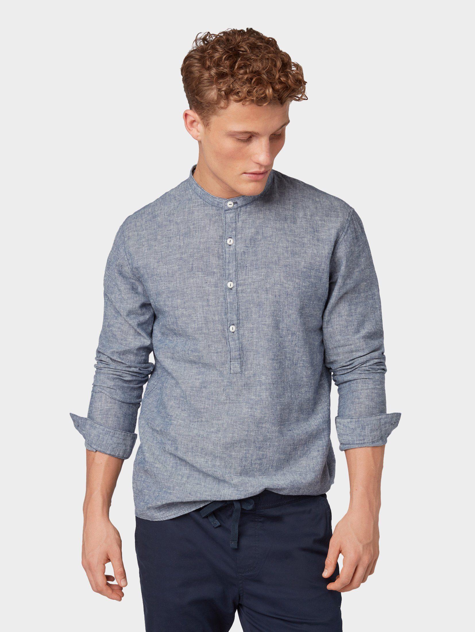 TOM TAILOR Denim Hemd »Shirt mit Henley Ausschnitt« online kaufen | OTTO