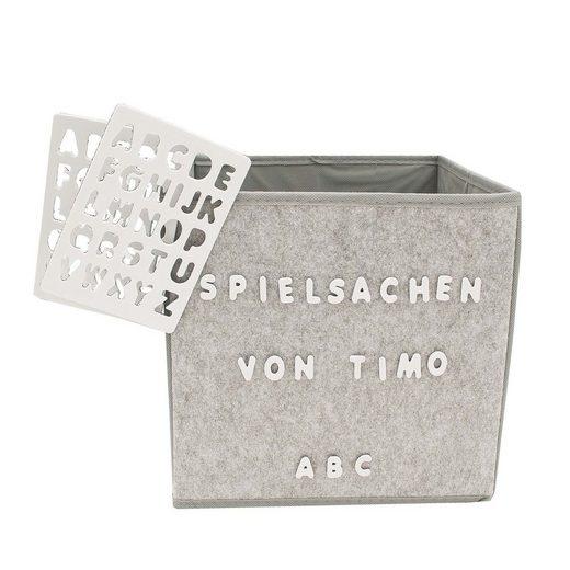 HTI-Line Aufbewahrungsbox Paloma »mit Buchstaben«