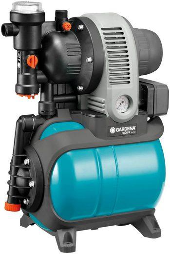 GARDENA Hauswasserwerk »3000/4 eco, 01753-61«, 2.800 l/h max. Fördermenge